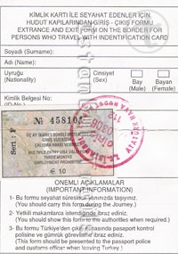 Turkish Visa Sticker