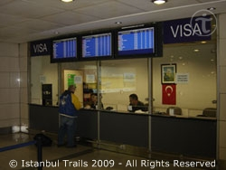 Visa sales point at the Atatürk International Airport, Istanbul, Turkey