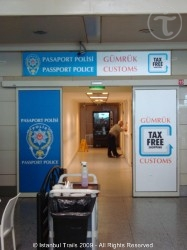 Customs Office in the Atatürk International Airport of Istanbul.