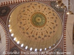 The dome of the Süleymaniye Mosque in Istanbul, Turkey