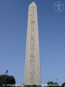 Egyptian obelisk (of Thutmosis III) at the hippodrome in Istanbul, Turkey