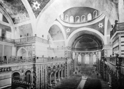 The interior of the Haghia Eirene in Istanbul, Turkey.