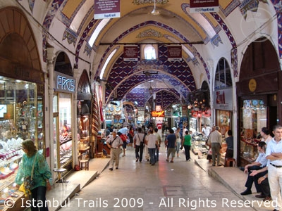 Video of the Grand Bazaar in Istanbul, Turkey.