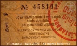 Most foreign nationals can obtain a visa (sticker) at the airport in Istanbul, Turkey