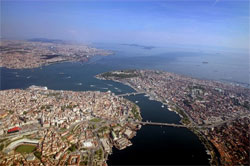 Aerial picture of Istanbul, Turkey.