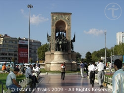 Taksim Square symbolizes the heart of modern Istanbul.
