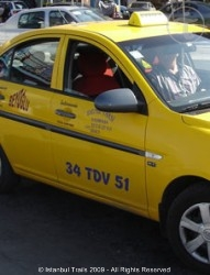 Official taxi in Istanbul, Turkey.