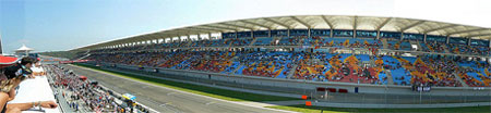 The grandstand of the Turkish Formula One Grand Prix in Istanbul Park, Turkey.