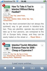 Post excerpts of a post on the mobile version of Istanbul Trails.