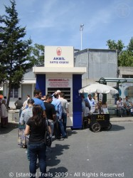 Akbil sales point on Taksim Square